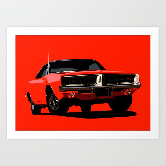 DODGE CHARGER R/T Art Print
