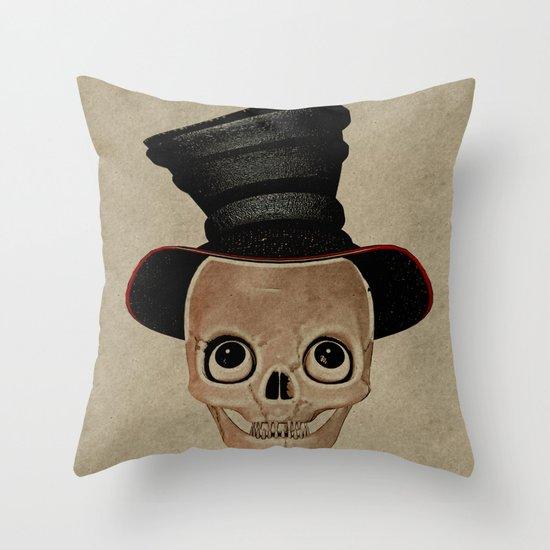 Mad Skull Hatter Throw Pillow