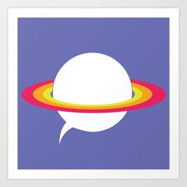 Space talk Art Print