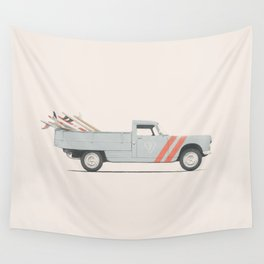 Surfboard Pick Up Van Wall Tapestry