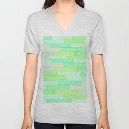 Brickwork Green Unisex V-Neck