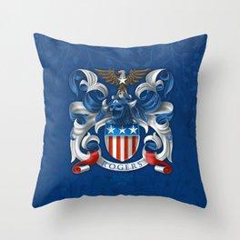 Cap. America Coat of Arms Throw Pillow