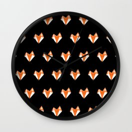 The Fox - Tiled Wall Clock