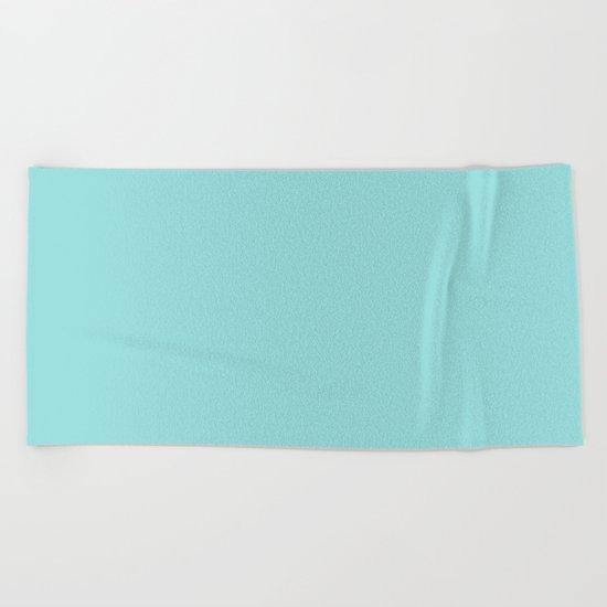 Aqua Shell (Blue) Color Beach Towel