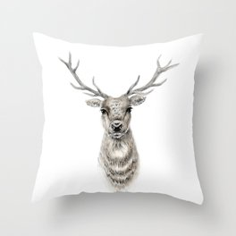Proud Stag - Reindeer - Deer Throw Pillow