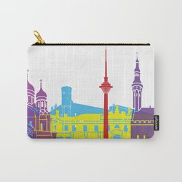 Tallinn skyline pop Carry-All Pouch