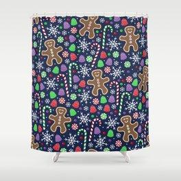 Jolly Gingerbread Shower Curtain