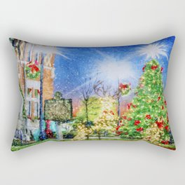 Home Town Christmas Rectangular Pillow