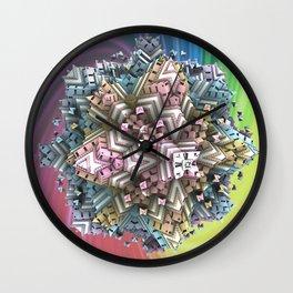 Koch-Cube Fractal Wall Clock