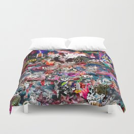 Pink Submarine Duvet Cover