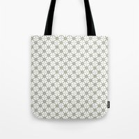 flower pattern Tote Bags featuring Flower pattern by Yasmina Baggili