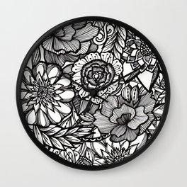 preppy floral Wall Clock