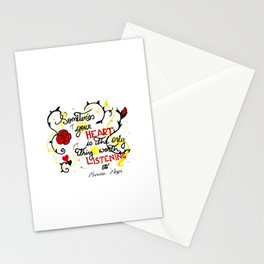 Listen to your hert Stationery Cards