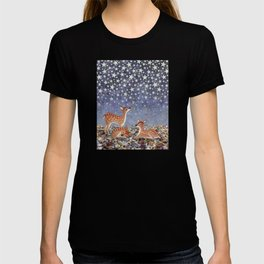 whitetail fawns under the stars T-shirt