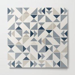 Modern Triangles Metal Print