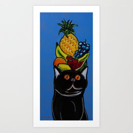 Cat at the Copa Art Print