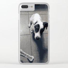 My dog Marley! Clear iPhone Case