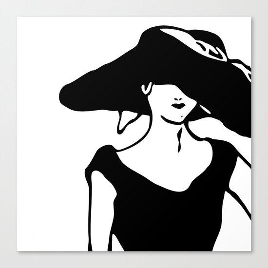 A lady. Canvas Print