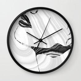 Sensual Portrait Art - Marbled Seduction - Sharon Cummings Wall Clock