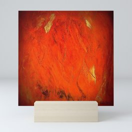 Vintage Rustic Orange Stucco Texture - Corbin Henry Mini Art Print