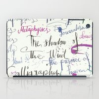 calligraphy iPad Cases featuring Calligraphy Spill by Louis Franz