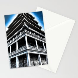 Pagoda In Blue Stationery Cards