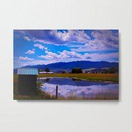 'Blue Skies Smilin' at Me Metal Print