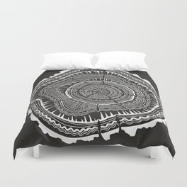 Growth Rings – 65 Years – Black Duvet Cover