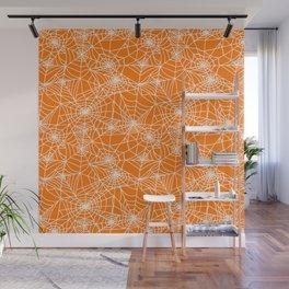Pumpkin Cobwebs Wall Mural