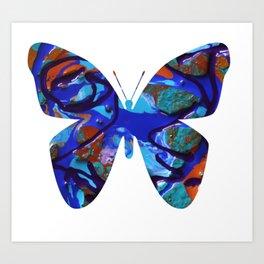 BB BLUE Art Print