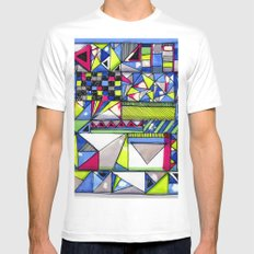 Neon Textures Mens Fitted Tee White MEDIUM