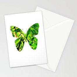Fluid Butterfly (Green Version) Stationery Cards