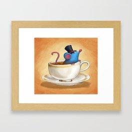 Mr. Bluemouse in a Teacup Framed Art Print