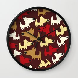 Piles of Puppies Wall Clock