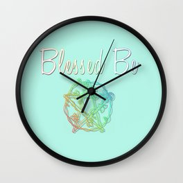 Blessed be with pentacle Wall Clock