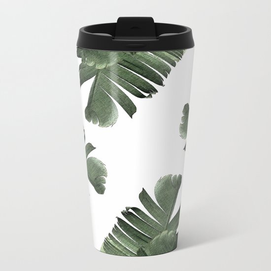 Banana Leaf Frenzy #society6 Metal Travel Mug