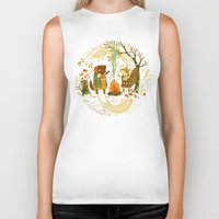 forest Biker Tanks featuring Animal Chants & Forest Whispers by Teagan White