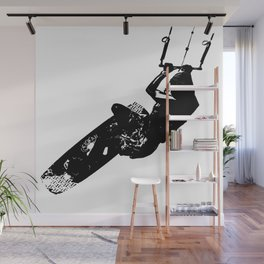 Time To Be Board Silhouette Wall Mural
