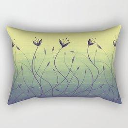 Purple Algae Plants In Green Water Rectangular Pillow