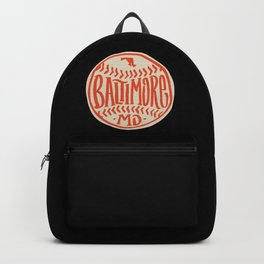 Hand Drawn Baseball for Baltimore with custom Lettering Backpack
