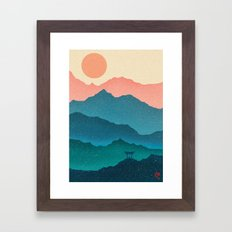 Meditating Samurai Framed Art Print