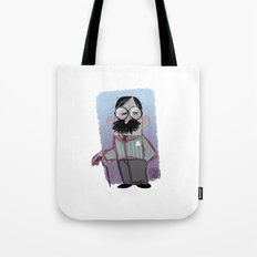 Man with mustache Tote Bag