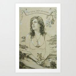 Out of Khaos Came Gaia Art Print
