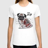 anatomy T-shirts featuring Pug Anatomy by Huebucket