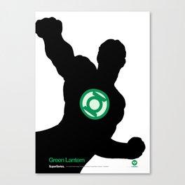 SuperSeries: Green Lantern Canvas Print