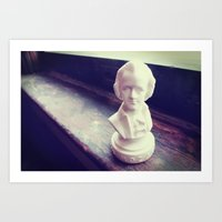 mozart Art Prints featuring Mozart by EleyartPhotography