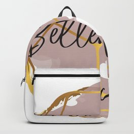 Better things are coming. Concept quotes Backpack