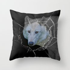 hellouuu . . . little red riding hood! Throw Pillow