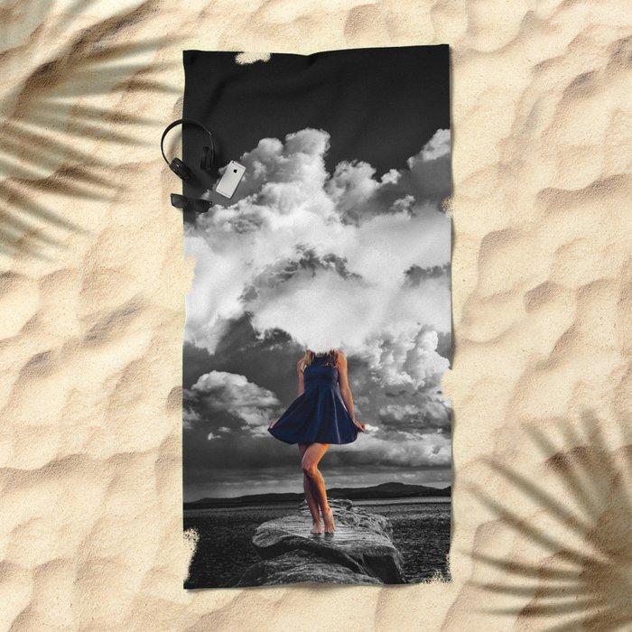 High as Sky Beach Towel