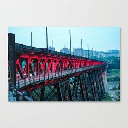 High Level Bridge Lights Canvas Print